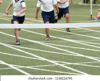 Sports race at the athletic meet