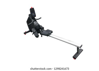 sports rowing machine isolated on white background