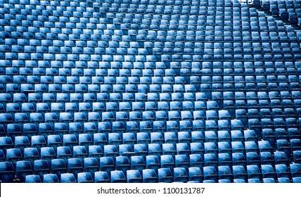 sports stadium with empty seats row