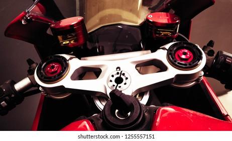 sports superbike close up
