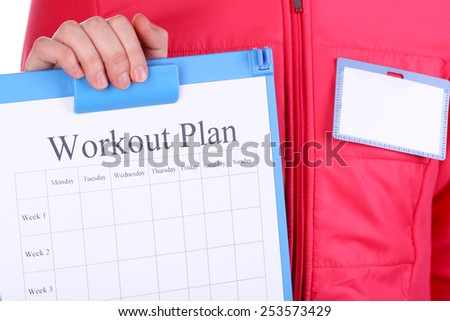 workout plan paper