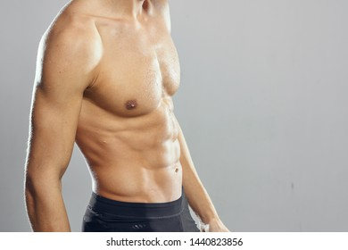 Sports training exercises bodybuilder muscled muscular torso