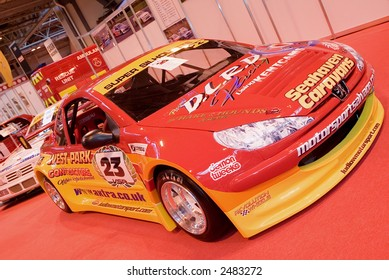 Sportscar on display at car show