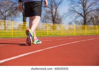 Sportsman on the racetrack