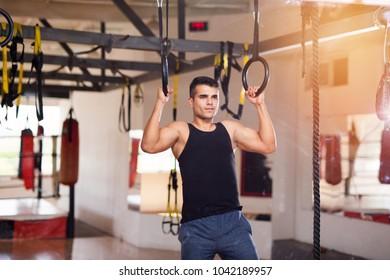sportsman seeing himself in mirror