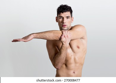 Sportsman stretching