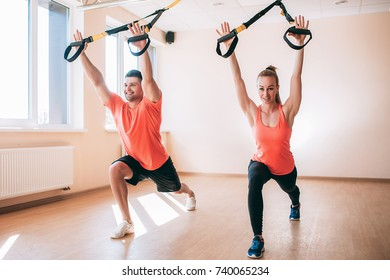 Sportswear couple training couple gym concept. Working process. Healthcare lifestyle.