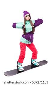 sportswoman in gear for winter sports
