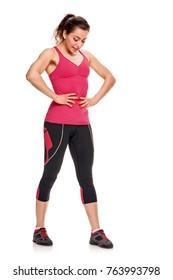 Sportswoman losing weight
