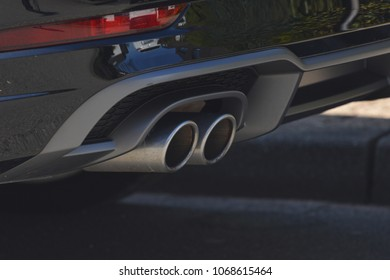 Sporty Car Exhaust