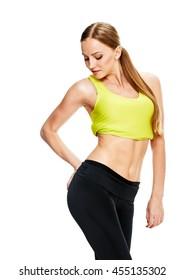 sporty Woman with beautiful body after diet