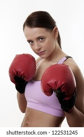 sporty woman keeping her body fit doing boxing