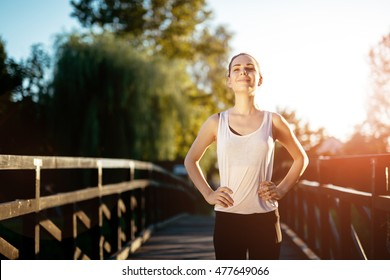 Sporty woman living a healthy life