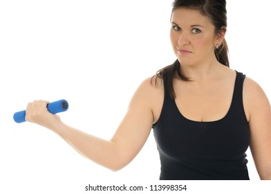 sporty woman trained with hantels / sporty woman