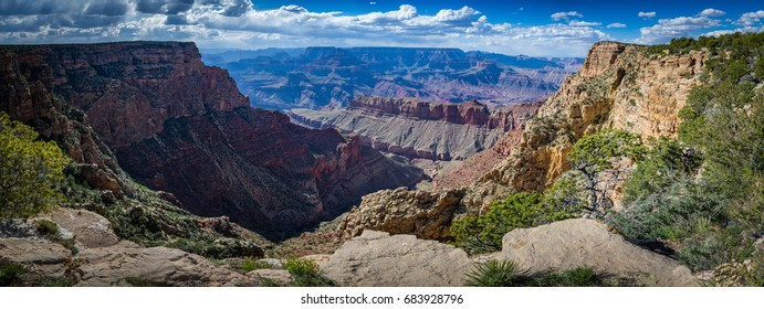 A spot along the South Rim of Grand Canyon National Park in Arizona U.S.A.