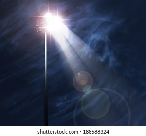 Spot light at night