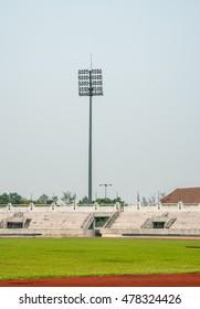 Spot light pole in Stadium