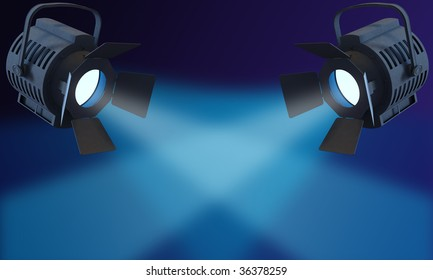 Spot light rendering blue light