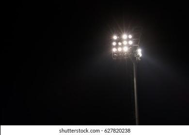 spot lights in soccer field