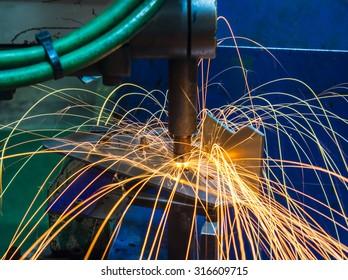 Spot welding machine Industrial  automotive part in factory