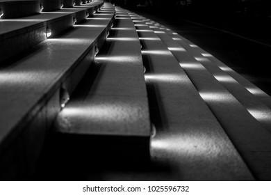 Spotlight illuminated steps