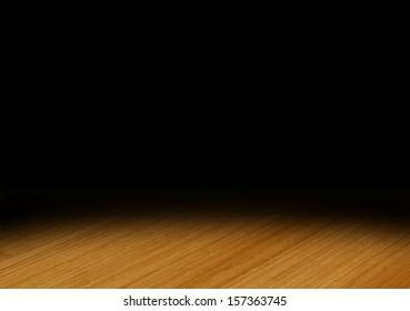 Spotlight on Wooden Floor