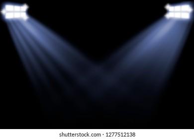 Spotlight in stadium
