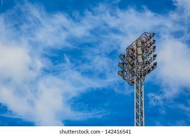 Spot-light tower  and sky blue .