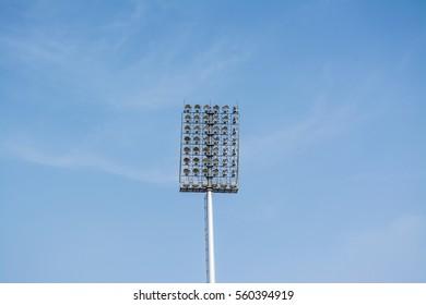 Spotlights to illuminate the stadium.