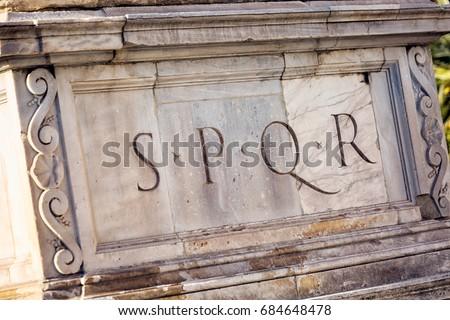 senatus populusque romanus in english