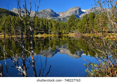 Sprague Lake reflections at Rocky Mountain National Park Colorado