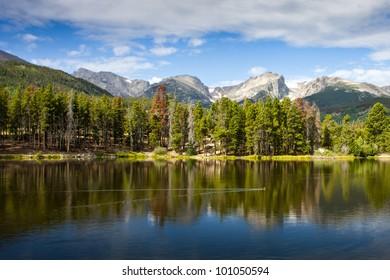 Sprague Lake at Rocky Mountain National Park Colorado