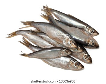 sprat fish isolated on white background