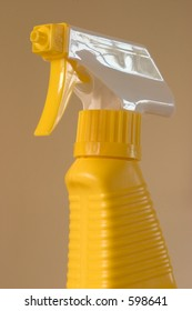 Spray bottle nozzle and neck.