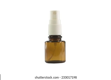 spray bottle on white background