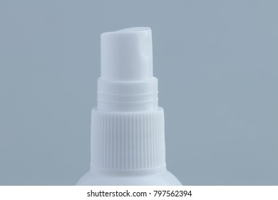 The spray bottle is on the white background