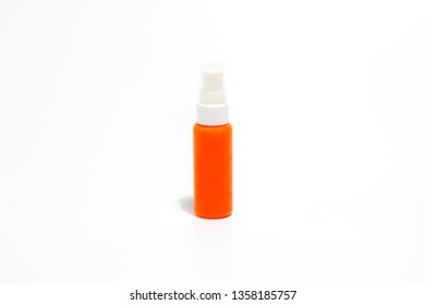 Spray bottle template on white background.