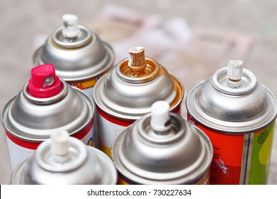 Spray paint photo for your painting projects or tools publications.