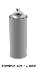 Spray tin on white background