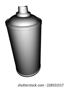 spraycan illustration grid pattern in black and white