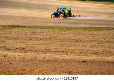 Sprayer on a field