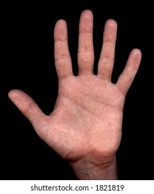 Spread hand with clipping path