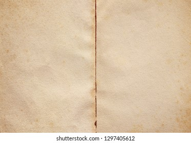Spread page of a vintage ancient book.