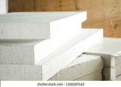 Spread white styrofoam
