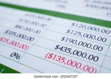 Spreadsheet report finance