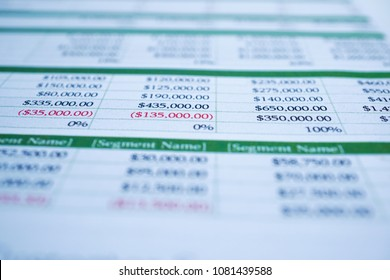 Spreadsheet table paper, Finance development, Banking Account, Statistics Investment Analytic research data economy, trading, Mobile office reporting Business company meeting concept.