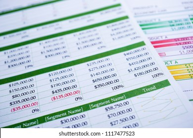 Spreadsheet table paper. Finance development, Banking Account, Statistics Investment Analytic research data economy, trading, reporting Business company meeting concept.