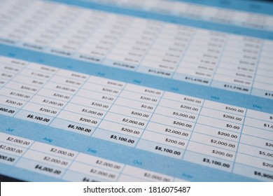 Spreadsheet table paper Finance development, Account, Statistics Investment Analytic research data