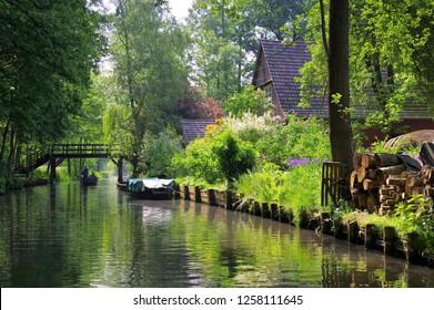 Spree Forest House on water, Brandenburg
