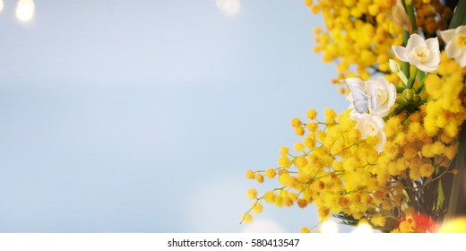 Spring background. Greeting card for Mother's Day, 8 March, Birthday, Teacher's Day, Easter
